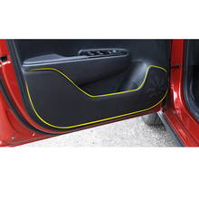 Lsrtw2017 PU Leather Car Inner Door Anti-kick Mat Protective Ssticker for Kia Kx Cross K2 Rio lsrtw2017 durable waterproof leather car trunk mat gloor mat for kia kx cross