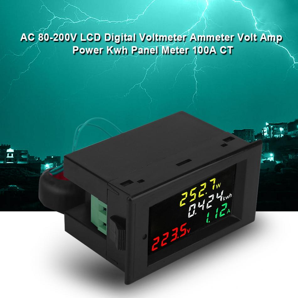 MING-BIN 100A AC Digital LED Power Panel Meter Monitor Power Energy Voltmeter Ammeter