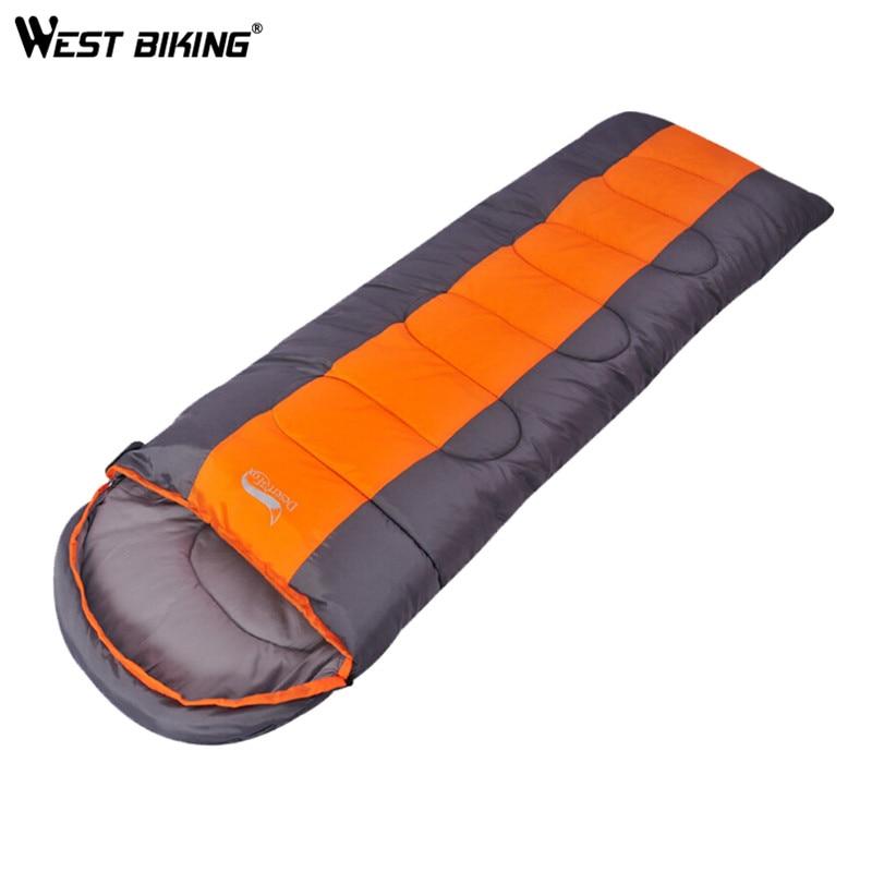 ФОТО WEST BIKING Camping Sleeping Bag Lunch Adult Sleeping Bag can Fight Double Sleeping Spring Autumn And Winter Thick Sleeping Bag