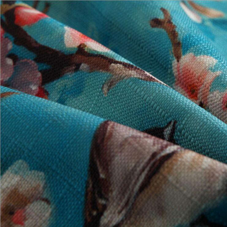Fuglblomst bomuldslinned Grace Bloom Sofapude 45x45cm / 17,7x17,7 '' - Hjem tekstil - Foto 3