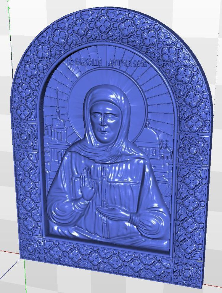relief for cnc in STL  file Icona_sv_Matrona_1 format  3d martyrs faith hope and love and their mother sophia 3d model relief figure stl format religion for cnc in stl file format