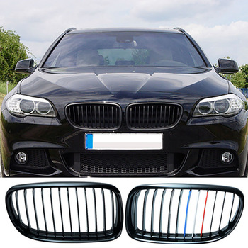 2 stks Grille Voor BMW 3 Serie E90 E91 09-11 Rood Wit Gloss Black Auto Front Center Breed nier Grill Racing Grill Auto-styling