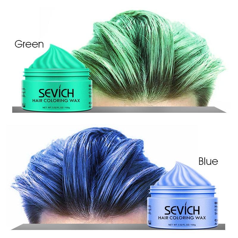 Sevich Fashion Silver Color Jar Styling Hair Colour Wax Hair Dye Wax