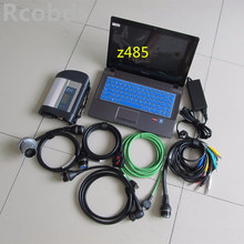 mb star diagnostic system c4 with laptop z485 ram 4g newest software hdd 250gb full set ready to use for cars and trucks scanner