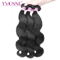 YVONNE Virgin Brazilian Body Wave Hair 3 Bundles Human Hair Weave Natural Color 8 28 inches Free Shipping