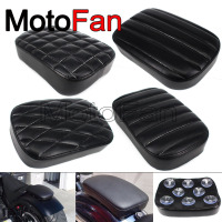 Unversal Motorcycle Solo Passenger Seat Cushion Suction Cup Pillion Pad Leather Custom for Harley Honda BMW Yamaha kawasaki KTM