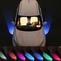 2x For BMW Ford Audi Toyota Volkswagen Angel Wing Auto Welcome Lamp Decorative Light Car RGB LED Door Laser Projector Lights
