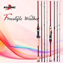 KUYING Freestyle Walker Spinning Baitcasting 2.1m 7'0″ Fishing Mini Travel Fish Lure Rod Pole Stick Cane Soft Light Carbon 2-10g