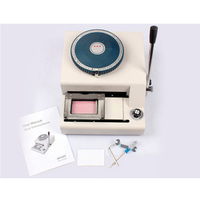 Manual PVC Name Id Card Embossing Machine Printer JX 70C
