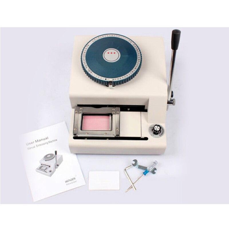 Manuel PVC nom id carte gaufrage machine imprimante JX-70C
