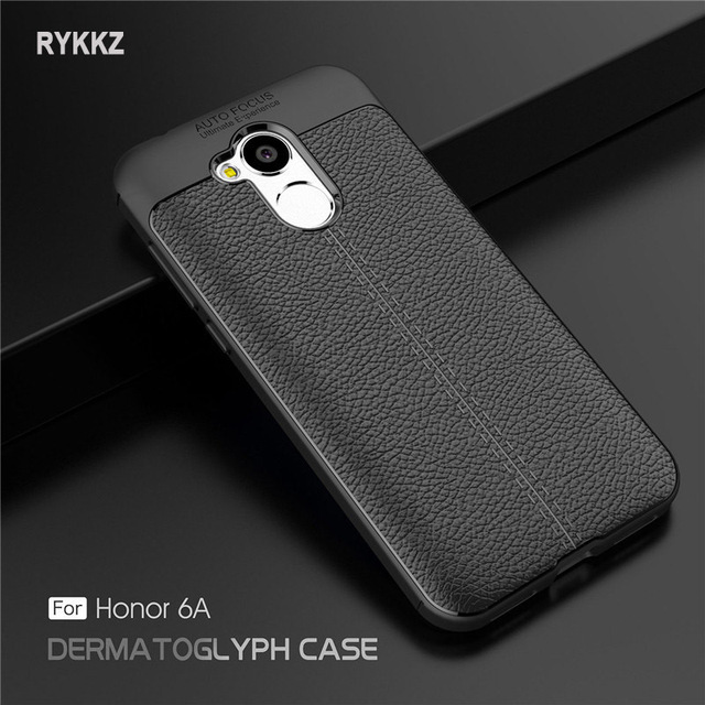 Case On Honor 6a Luxury Soft Shockproof Leather Grained TPU Back Cover For Coque Huawei Honor6A