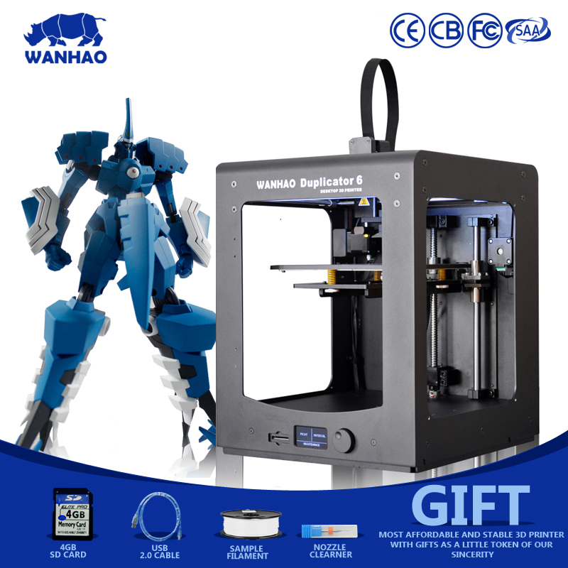 2016 WANHAO D6 3D Printer Newest Version Metal Frame Reprap kit with Nice Figure High Precision
