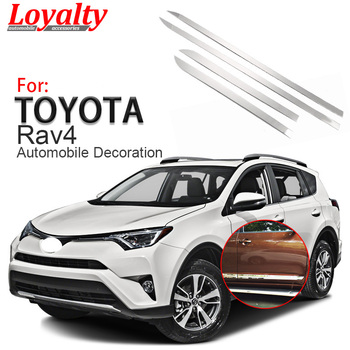 Loyalty for Toyota RAV4 2016 2017 Stainless Steel Door Body Side Trim Cover Auto Accessories Car Styling
