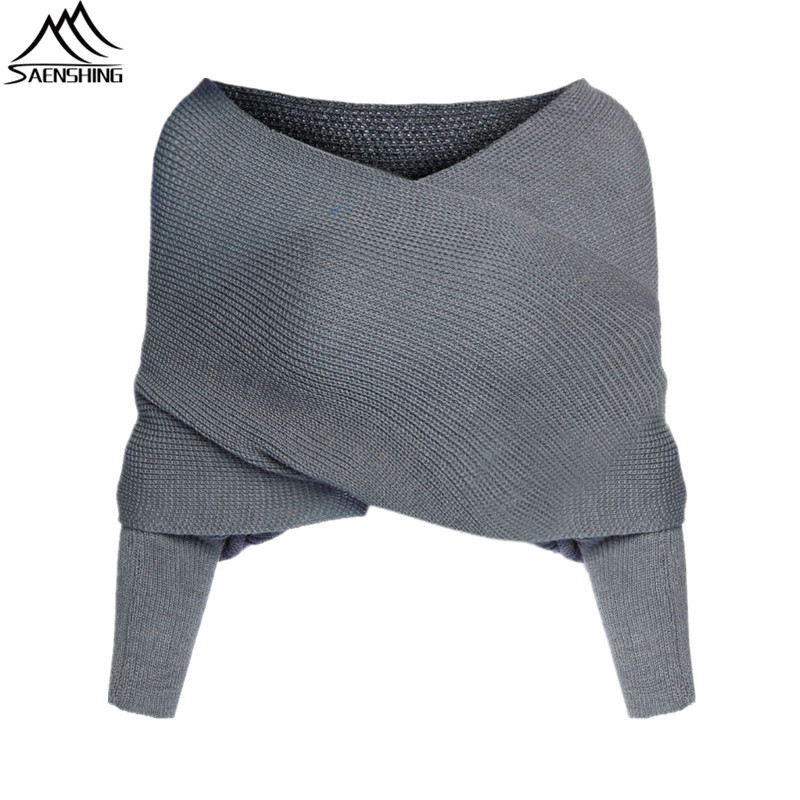 Women Cardigan 2016Fashion Jumper Brand Grey Off the Shoulder ...