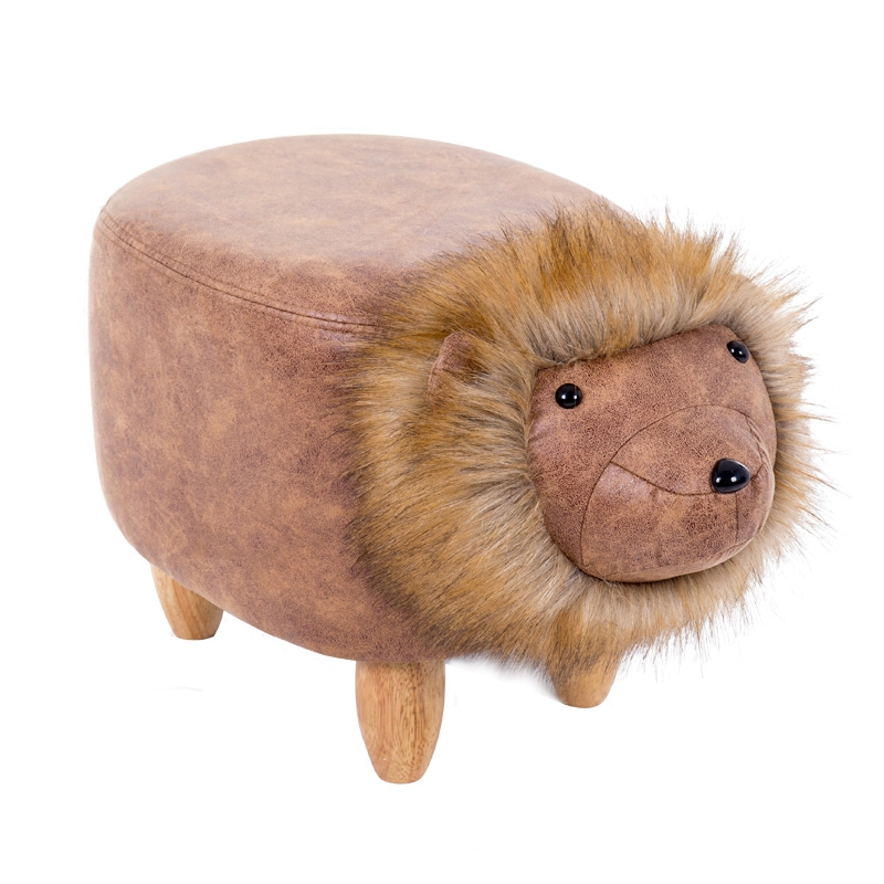 Cool Us 70 06 21 Off Lion Shape Creative Wooden Footstool Sturdy Storage Shoe Bench Sofa With Thick Bronzing Pu Plush Wooden Legs Multicolor In Shoe Beatyapartments Chair Design Images Beatyapartmentscom