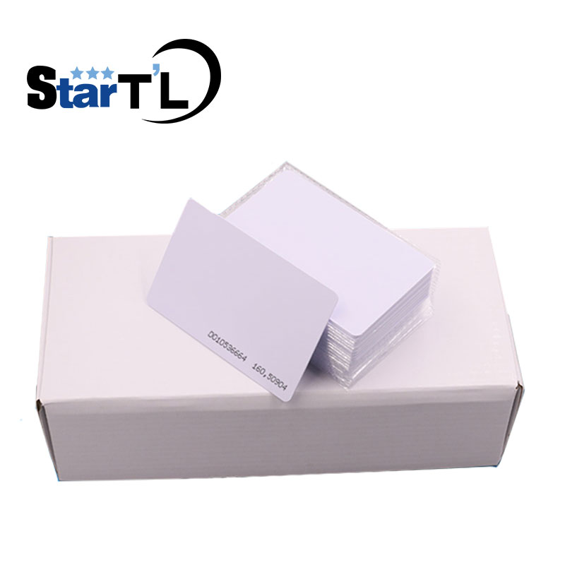 Free Shipping 100pcs RFID Smart Card Of ID Keyfobs 125 KHz TK4100 ID Card For Access Control System Time Attendance
