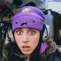 Beanie meninas Novas algodão de malha tampão do chapéu da mulher do Inverno Encantador e um Chapéu Bonito new lazer moda chapéu gorras touca Modno B40F6
