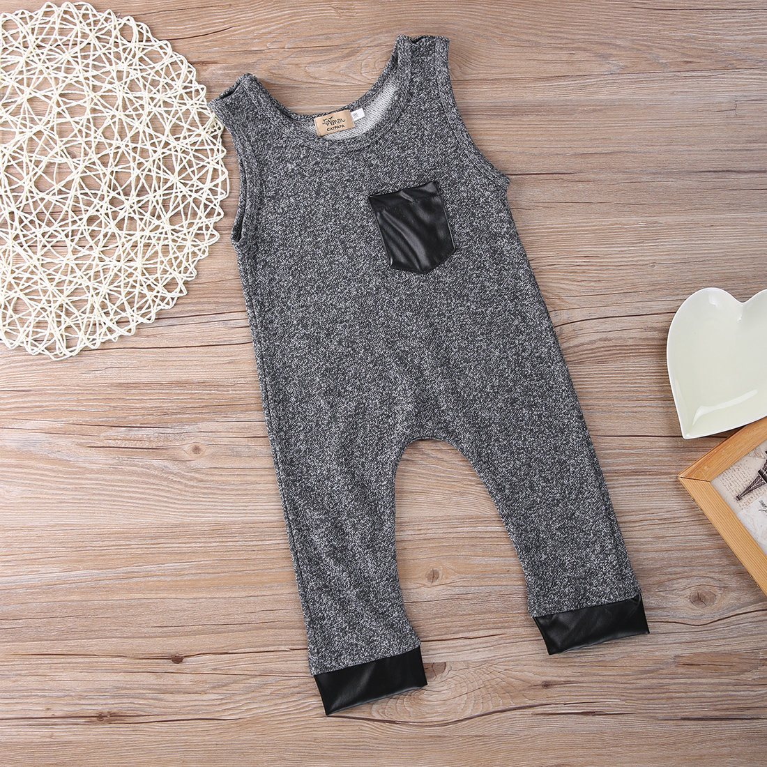Toddler Baby Girls Boy Organic Romper Bib Playsuit Outfits Clothes 1-6Y erbaviva organic cotton baby bib