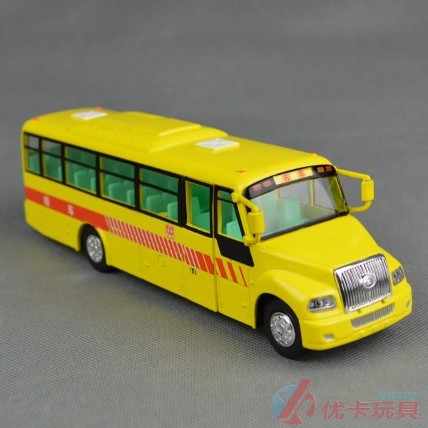 School bus model alloy bus toy car WARRIOR acoustooptical