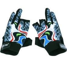 Outdoor Sports Sun Protection Men Glove Waterproof Anti Slip Fishing Gloves Cut Finger Leather Gloves Carp Fishing Accessories недорого