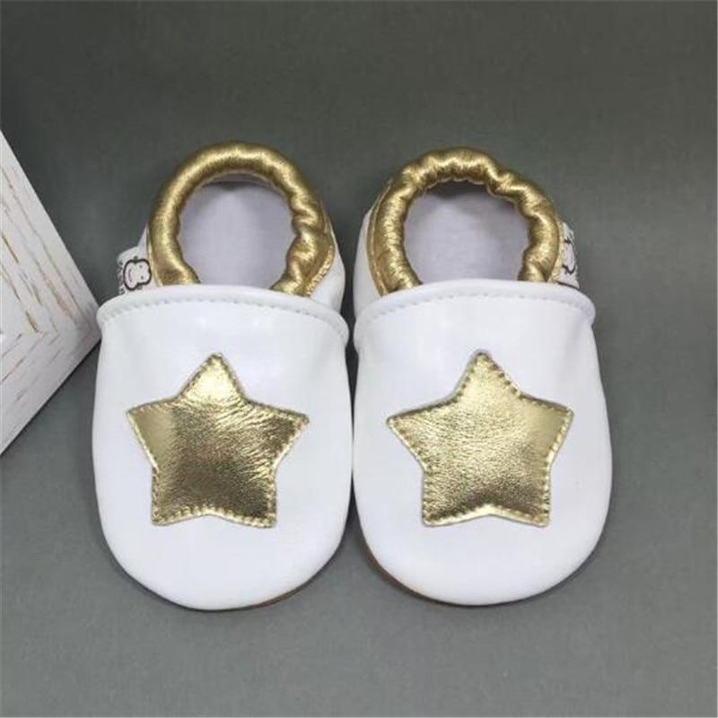 Breathble Zapatos Inferiores Suaves Del Bebé Zapatos de Bebé de Cuero Genuino Pr