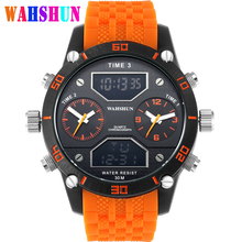 Luxury Brand Military Watches Men LED Digital Big Mens Display Quartz Watch Waterproof Dual Time Casual