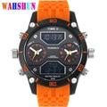 Marca de luxo Militar Relógios Homens Digital LED Grande Mostrador do Relógio de Quartzo Dos Homens À Prova D' Água Dual Time Relógio Ocasional relogio masculino