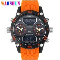 Luxury Brand Military Watches Men LED Digital Big Mens Display Quartz Watch Waterproof Dual Time Casual