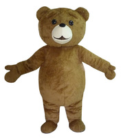 Teddy Bear Mascot Costume Adult Halloween Fancy Dress Cartoon Character Outfit Suit, Free Shipping