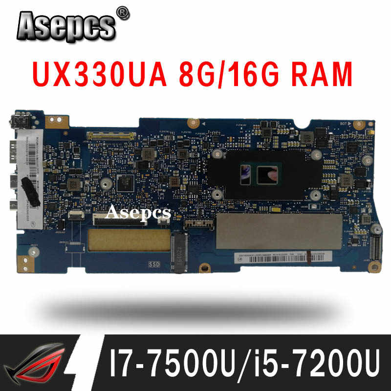 Motherboard Laptop UNTUK ASUS UX330UAK UX330UA UX330U Mainboard 8G/16G Ram I7-7500U I5-7200U Pertukaran!!!