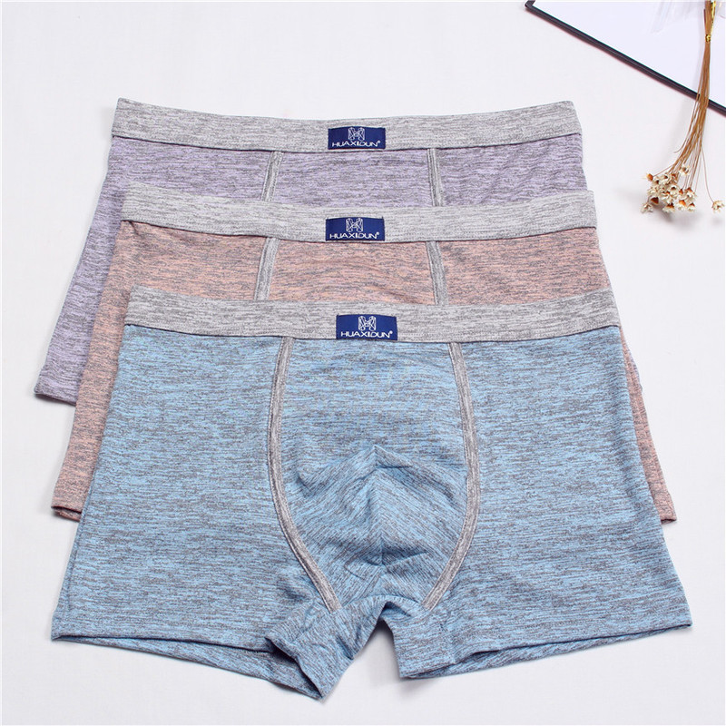 Men's Underwear Men's Cotton Boxer Sexy Men's Underwear 1 Piece Set \ Large Size Large Size Boxer Shorts Underwear L-3XL