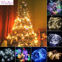FENGRISE Micro String LED Wire Light Portable AA Battery Operated Wedding Birthday Party Lamp Garland Xmas Decor For Home