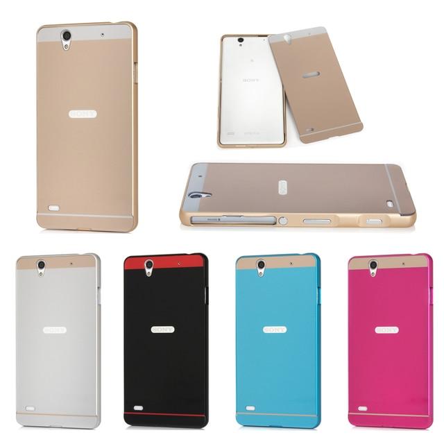 the best attitude 3488b 8a037 US $4.99 |For Sony Xperia C4 Case Metal Frame with Back Cover Case for Sony  Xperia C4 Dual E5333 E5306 E5303 E5353 E5343 E5363 Phone Cases on ...