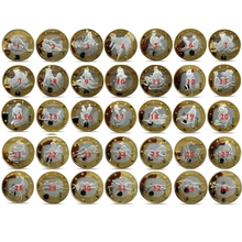 Children Love Interesting 34pcs/set Non-currency Coins Different Design Kama Sutra Position Hard Commemorative