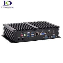 Промышленные безвентиляторный Мини-ПК Dual Core i3/5005U процессор mSATA 3.0 SSD 2 * RS232 com Порты и разъёмы PC прочный компьютер Intel HD Графика 5500