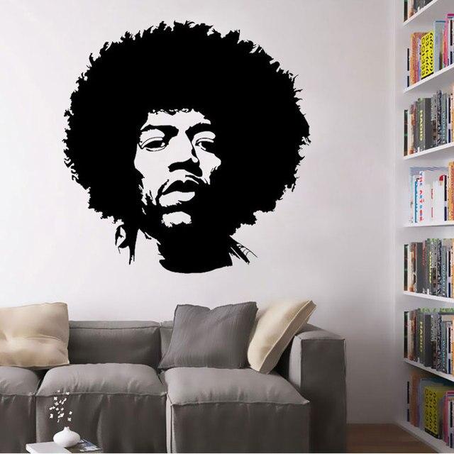 Jimi Hendrix Poster Jimi Hendrix Art Decor Decal-in Wall Stickers ...