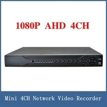 Newest 1080P CCTV AHD DVR 4 Channel , Mini 4CH Network Video Recorder , VGA / HDMI Full HD H.264 P2P Cloud Support 3G/WIFI