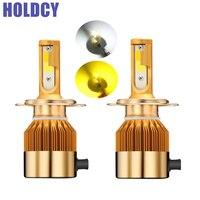 H4 H7 H11 H1 H3 9005 9006 9012 COB LED Headlight 3000K 6000K 9000LM All In