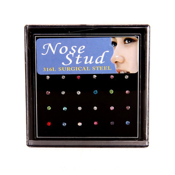 Crystal Nose Ring & Studs Fashion Body Women Girl Jewelry 2