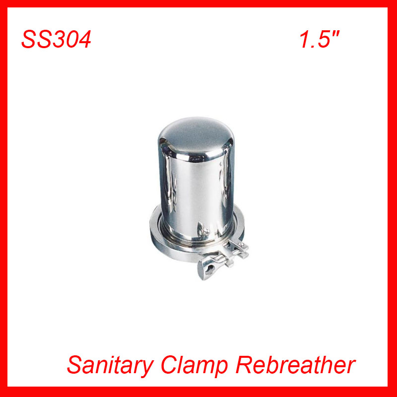 1.5 SS304 Sanitary Stainless Steel Tri Clamp Rebreather for tank Air filter food grade f Wine, milk, beverages