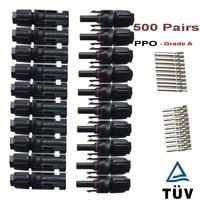 500 пар/лот Водонепроницаемый IP67 MC4 PV Кабельный разъем для 2,5 мм 4mm2 6mm2, MC4 солнечной разъем мужчина и женщина TUV гарантия
