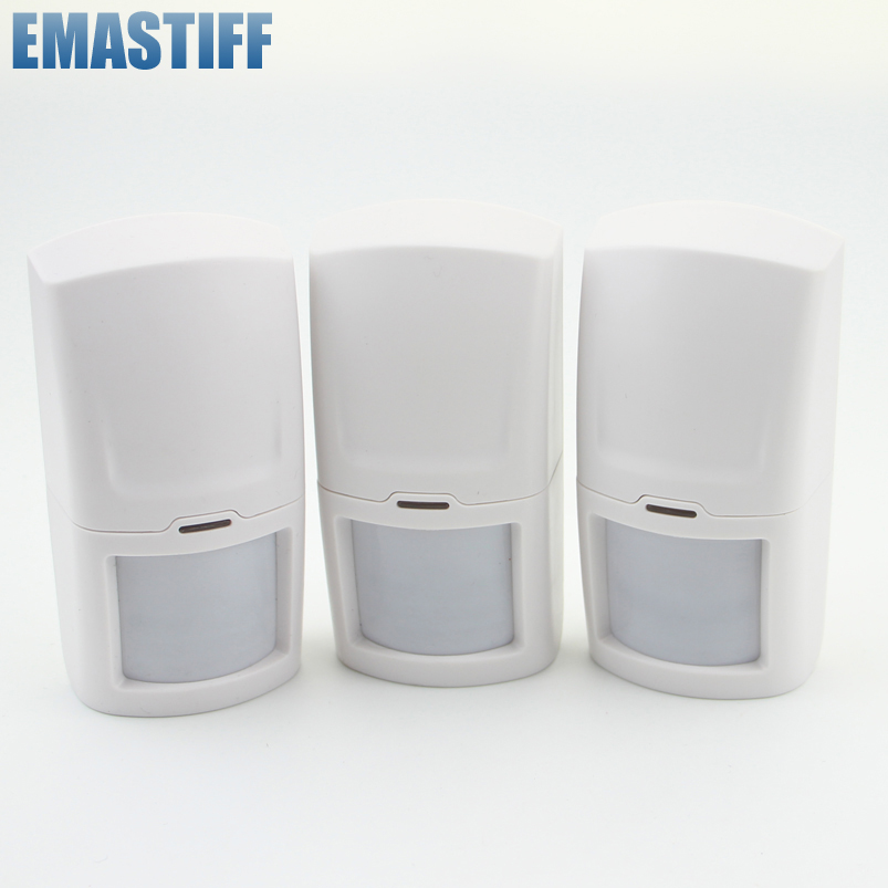 eMastiff Wireless Intelligent PIR Motion Detector Sensor 433MHz Built-in Internal Antenna For Alarm System xinsilu wireless intelligent pir motion sensor gs wms0 with build in tamper switch for g90b wifi alarm system