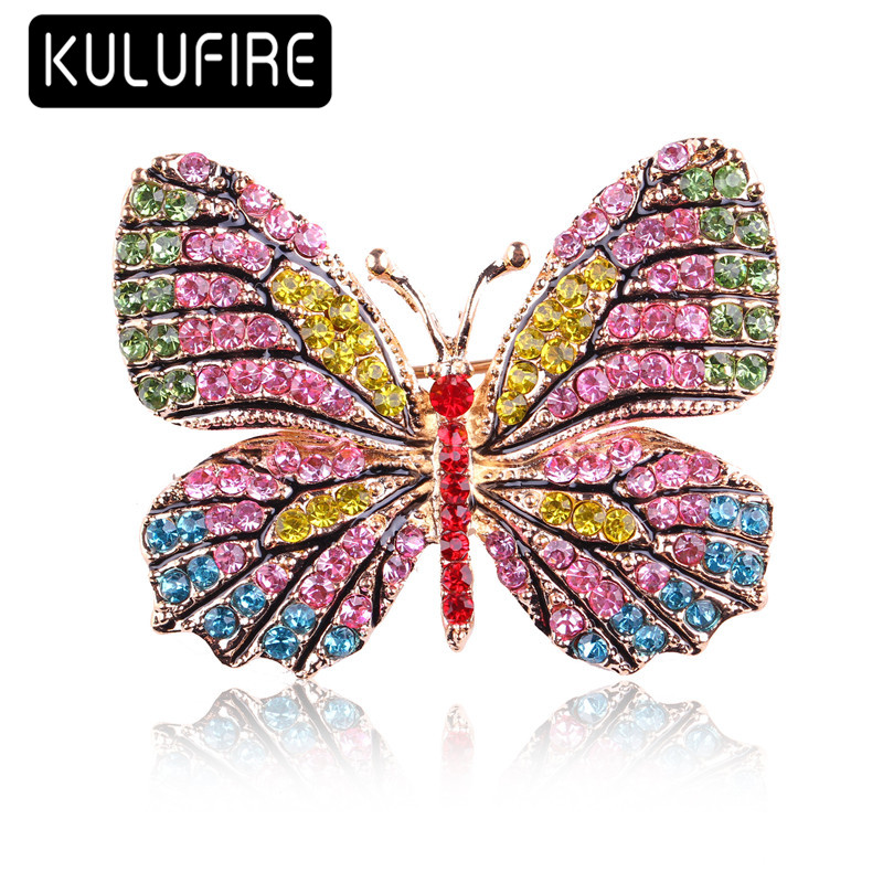 KULUFIRE Cute butterfly pins Brooches for women broche femme juego de tronos broschen broches animales mujer buho homem aranha