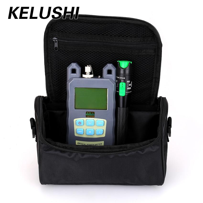 KELUSHI 2 in 1 FTTH Fiber Tool Kit With Fiber Optical Power Meter 20mw Visual Fault
