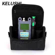 KELUSHI 2 en 1 Kit de Herramientas FTTH Fibra Con Fibra Medidor de Potencia óptica + 20 mw Visual Fault Locator/Cable De Fibra Óptica probador