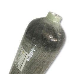 3l 4500psi 300bar cilindro de fibra de carbono composto de alta pressão/scba tanque de mergulho/garrafa de cilindro de ar comprimido-k transporte da gota