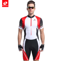 NUCKILY Summer Bike Triathlon Suit Foam Pad Custom Cycling Skinsuit Swimming Clothing For Men MQ002