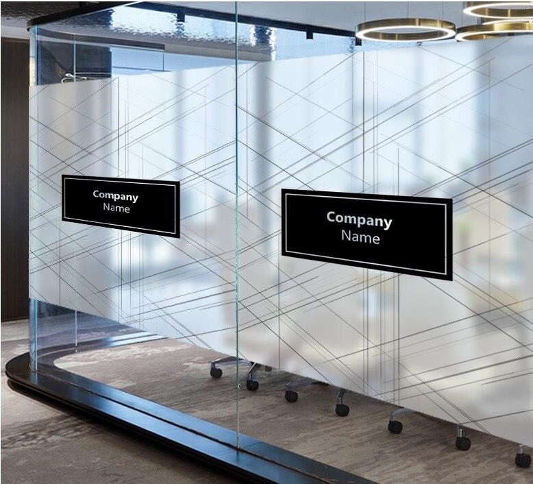 Nom de l'entreprise personnalisé logo fenêtres verre Film porte autocollants autocollant de mode statique s'accrochent intimité verre fenêtre Film pour bureau