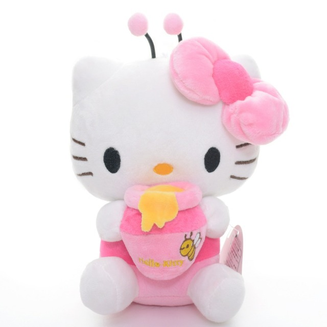 Adorable Hello Kitty Bee Dress Hold Candy Jar Plush Japan Anime Stuffed  Kitten Cat Toys Dolls 7   Brand New Red Pink d06c0cf16468