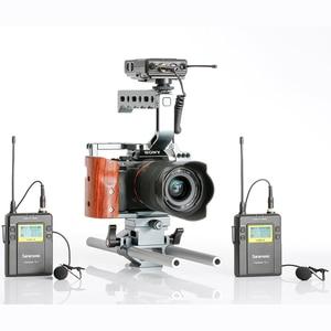 Image 4 - Saramonic UWMIC9 diffusion UHF caméra sans fil Lavalier Microphone système émetteurs + un récepteur pour caméscope DSLR